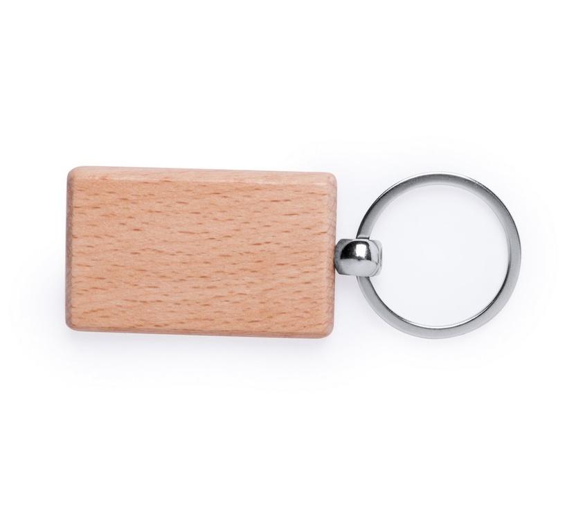 Brelok drewniany prostokątny do nadruku