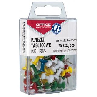 Kolorowe pinezki beczułki do tablic korkowych - 25 szt.