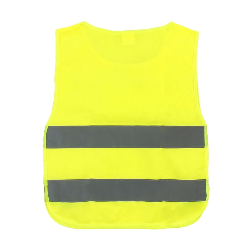 Żółta kamizelka odblaskowa do nadruku - dziecięca