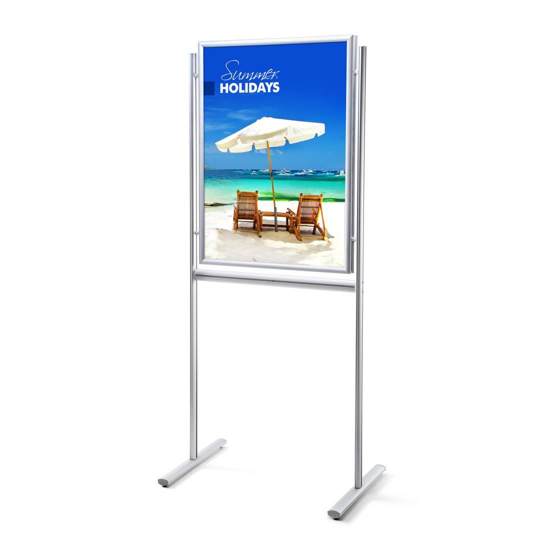 Modish Dwustronny stojak informacyjny na plakaty i broszury (format 70 x SX73