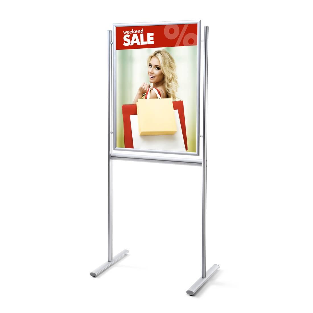 Ogromnie Jednostronny stojak informacyjny na plakaty i broszury (format 70 FW37