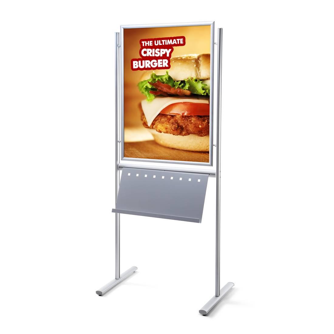 Dwustronny stojak informacyjny na plakaty i broszury (format 70 x 100 cm)