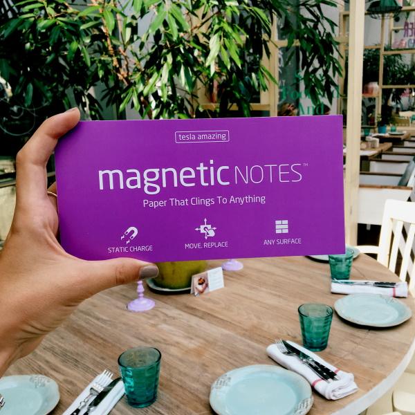 Elektrostatyczne suchościeralne karteczki na notatki - fioletowe