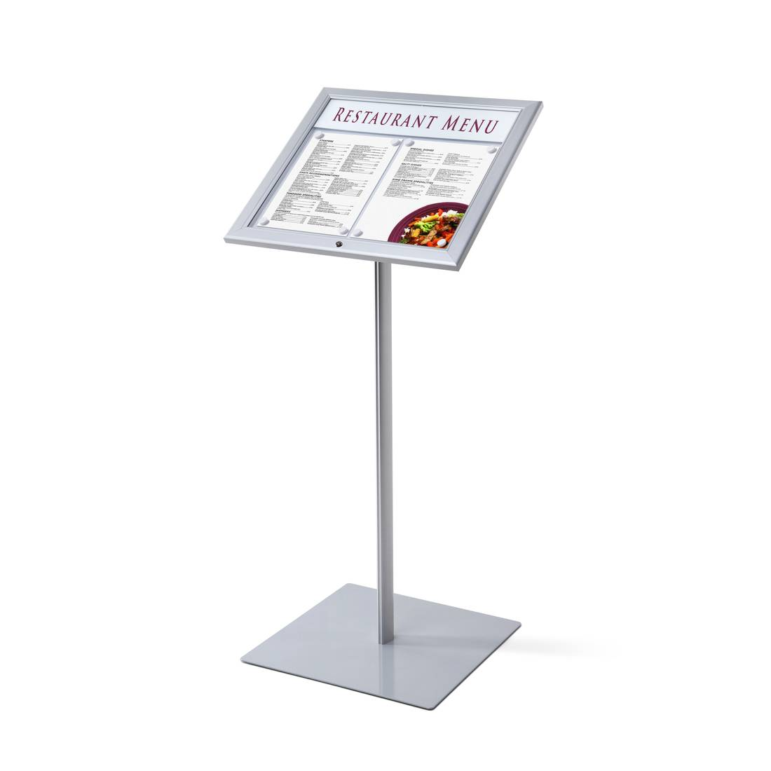 Zewnętrzny stojak na menu z zamkiem na kluczyk (format 2 x A4)