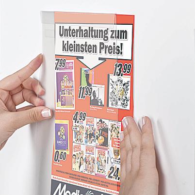 Samoprzylepna wisząca kieszeń na plakaty - 5 sztuk