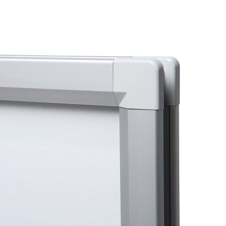 Dwustronny potykacz reklamowy z podstawą - srebrny (format A1)