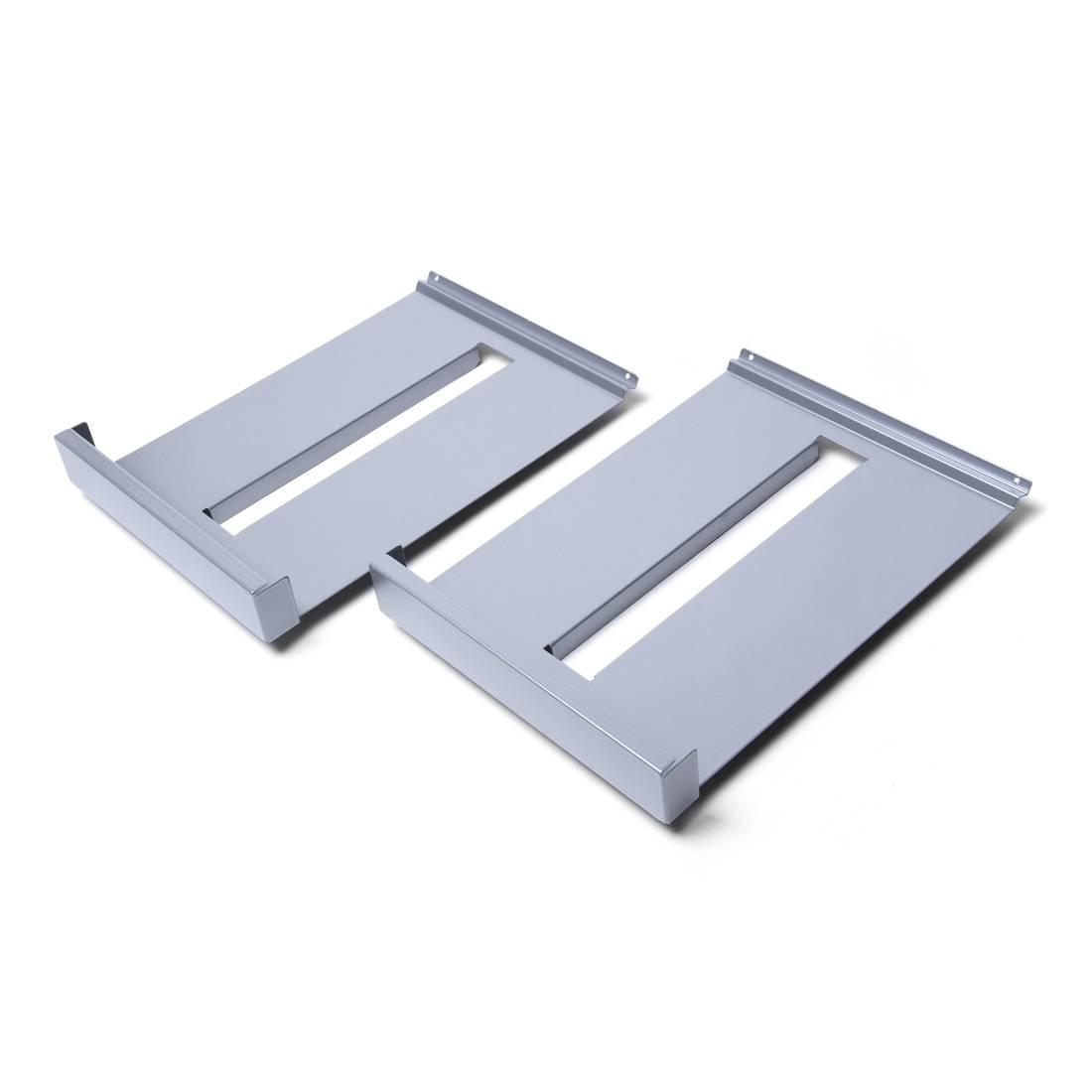 Metalowe półki do stojaka na ulotki BRT / BRW - 2 sztuki