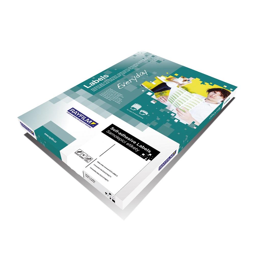 Samoprzylepne etykiety papierowe, ekonomiczne, zaokrąglone rogi do wszystkich rodzajów drukarek - 65 etykiet na arkuszu
