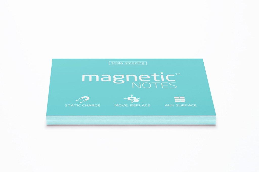 Elektrostatyczne suchościeralne karteczki na notatki - niebieskie pastelowe