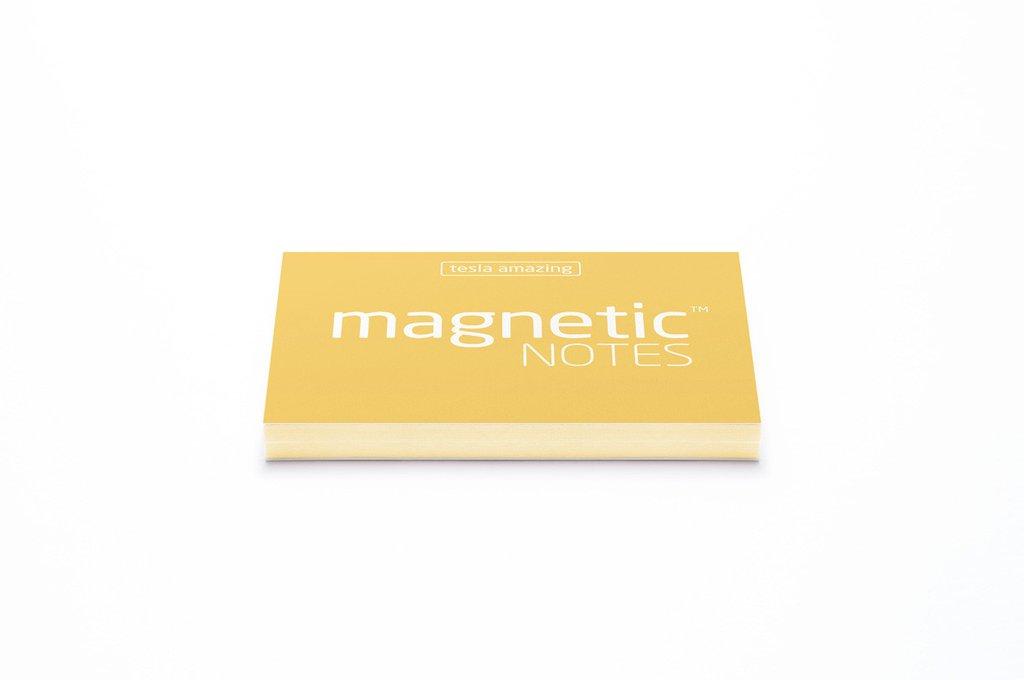 Elektrostatyczne suchościeralne karteczki na notatki - żółte pastelowe