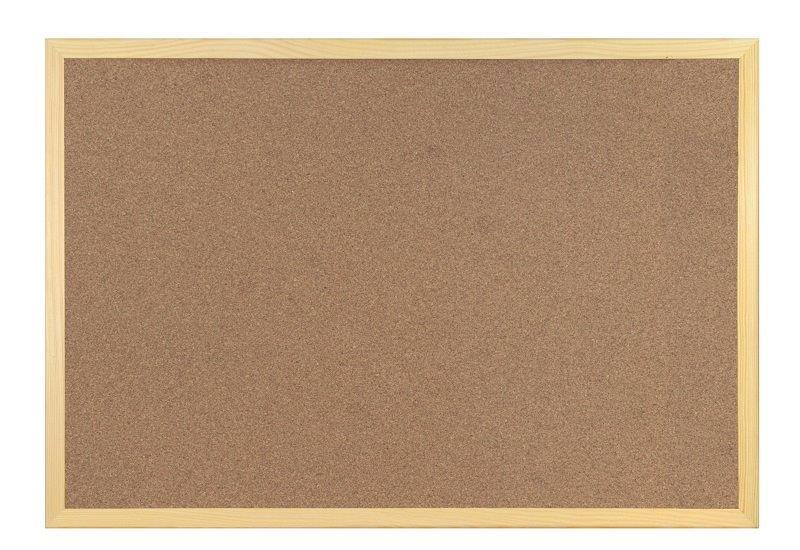 Tablica korkowa w drewnianej ramie