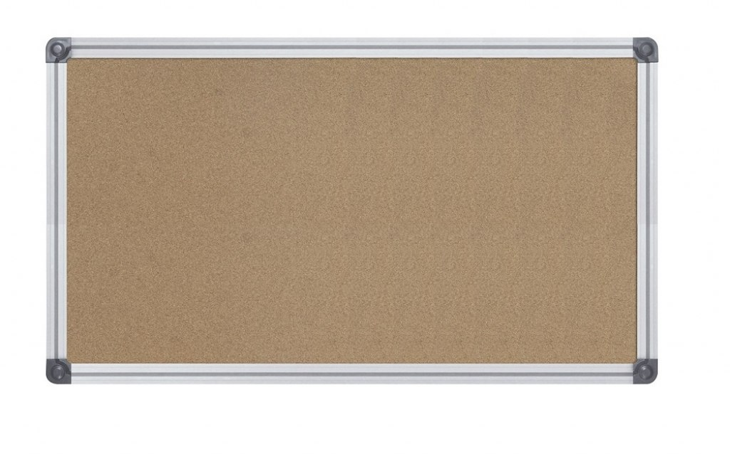 Cork board Dimension: 70 x 100 cm Type of frame: anodised aluminium