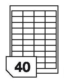 Samoprzylepne etykiety papierowe, wielokrotnego odklejania do wszystkich rodzajów drukarek - 40 etykiet na arkuszu