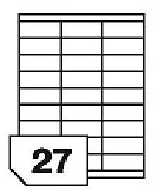 Samoprzylepne etykiety papierowe do wszystkich rodzajów drukarek - 27 etykiet na arkuszu
