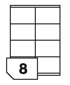 Samoprzylepne etykiety papierowe fotograficzne do drukarek atramentowych - 8 etykiet na arkuszu