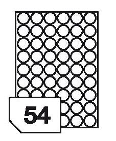Samoprzylepne etykiety papierowe do wszystkich rodzajów drukarek - 54 etykiety na arkuszu