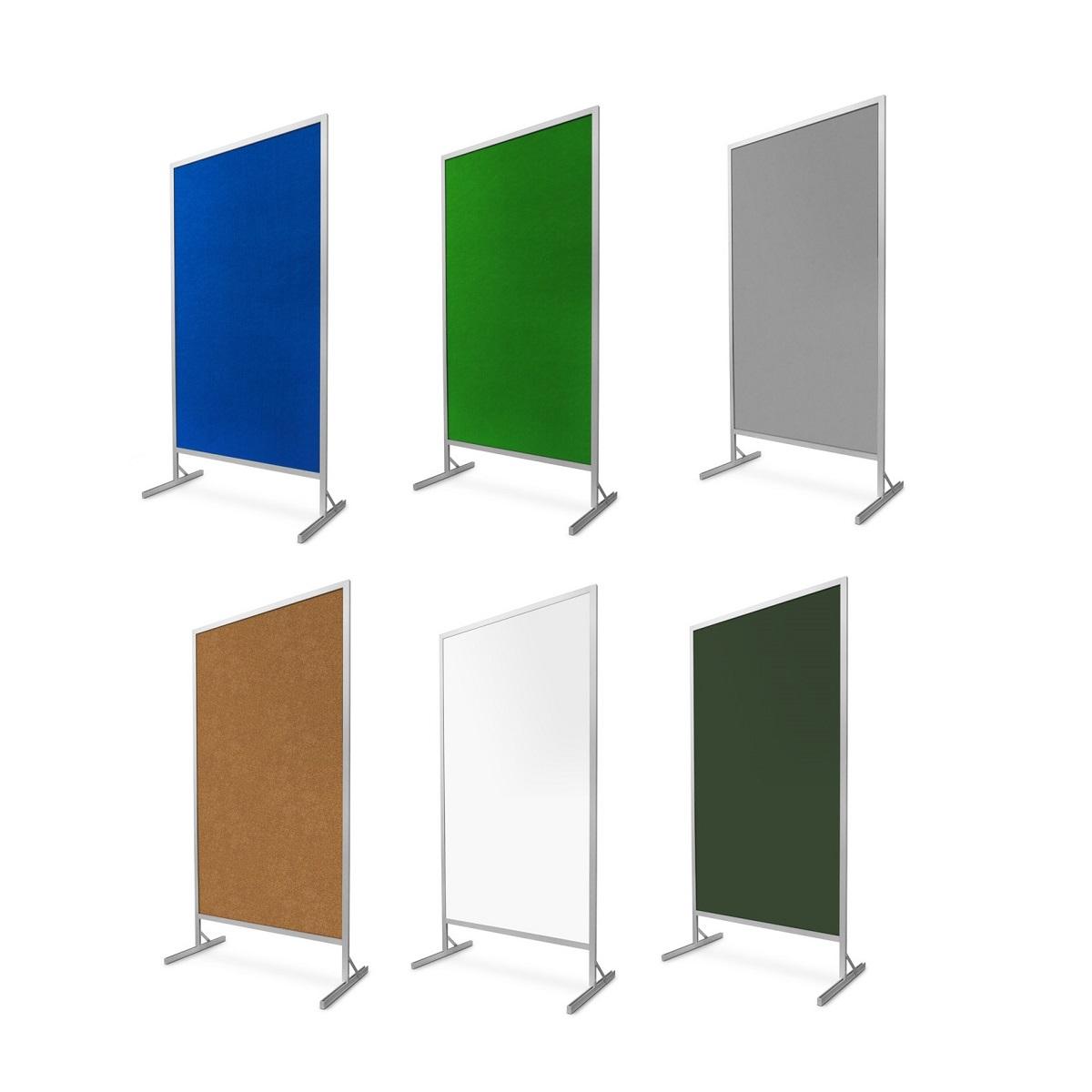 Parawan czteroczęściowy (czteromodułowy) tekstylny stojący