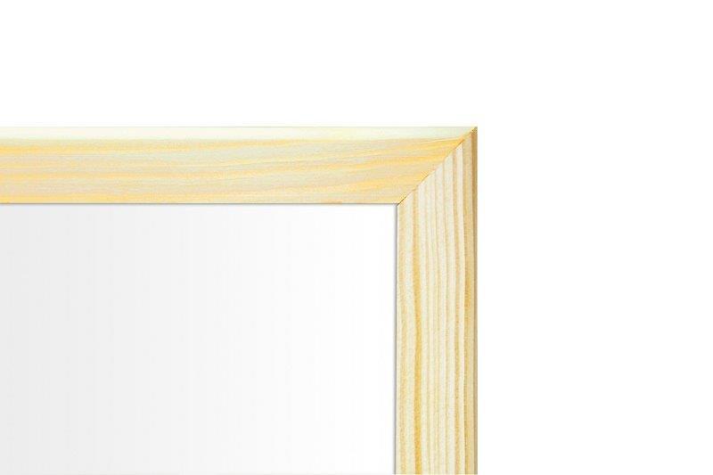 Tablica suchościeralna magnetyczna biała w drewnianej ramie