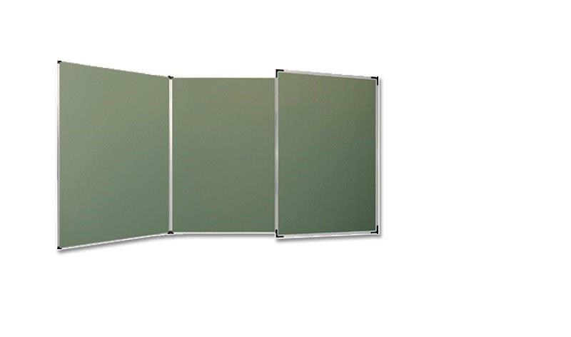 Trzyczęściowa tablica kredowa zielona (tryptyk)